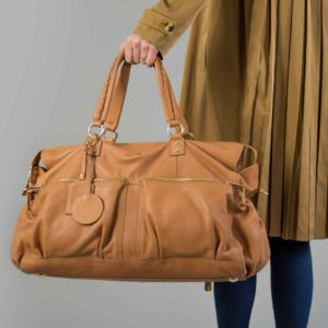 Personalised Leather Weekender Bag Limited Edition