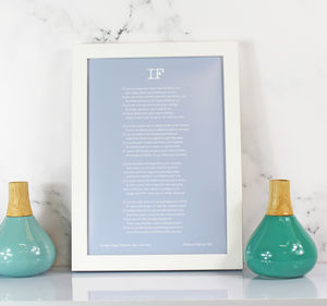 Personalised If Poem Print - posters & prints