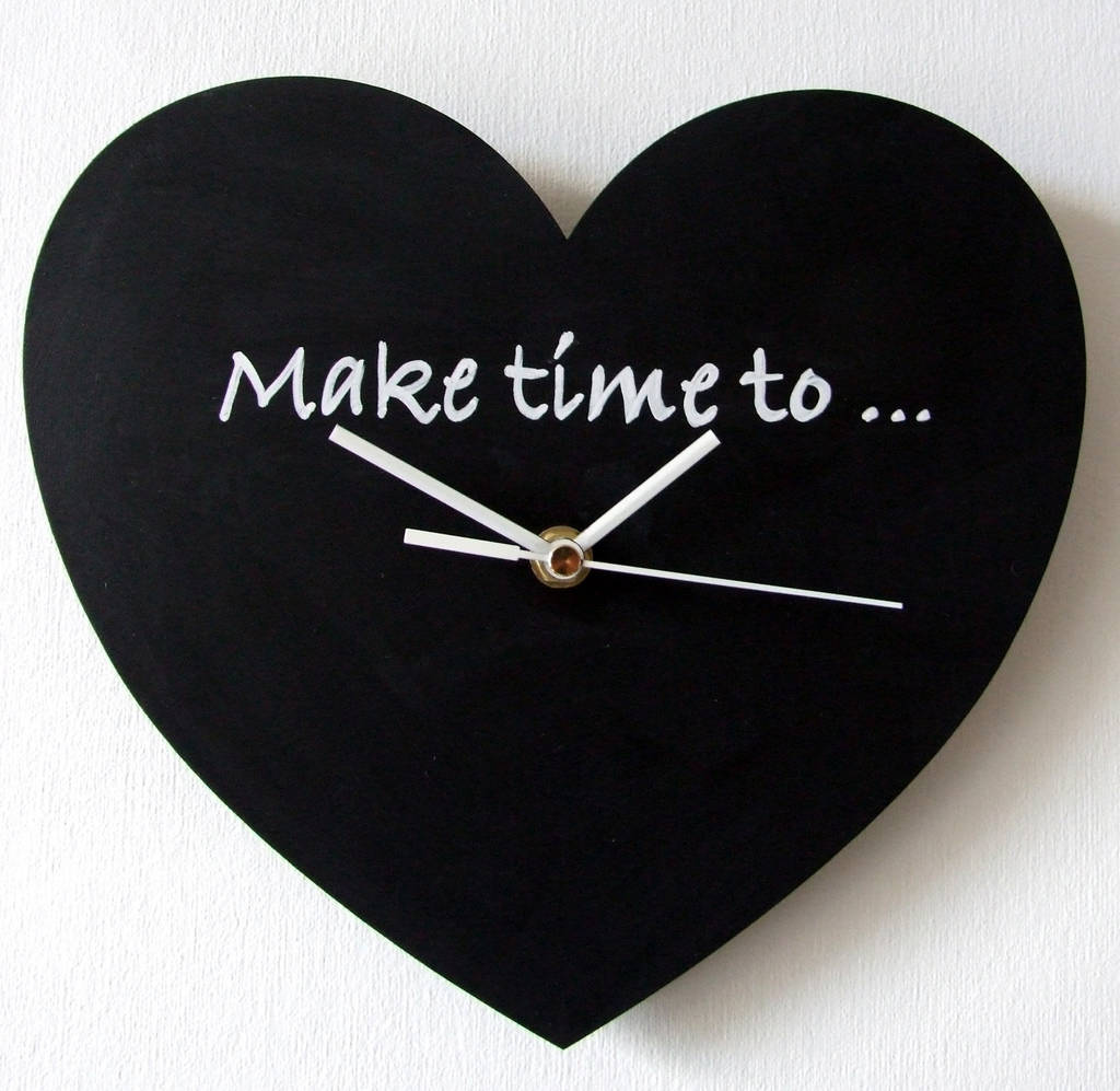 'make time' blackboard clock by made in words ...