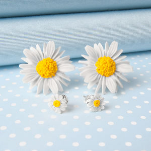 Daisy Stud Earrings In Two Sizes - earrings