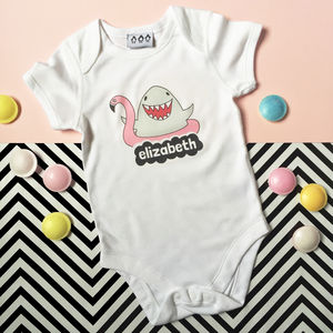 Personalised Feed Me Shark Babygrow - clothing