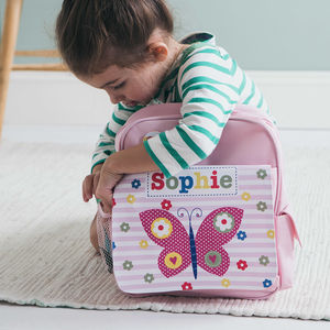 Girls Personalised Pink Mini Backpack Various Designs
