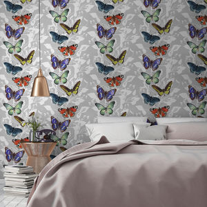 Butterfly Floral Botanical Wallpaper