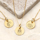 Personalised 18ct Gold Boho Charm Necklace