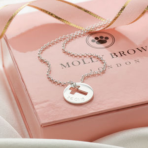 Personalised Silver Cross Hope Necklace
