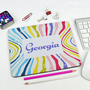 Personalised Abstract Mouse Mat