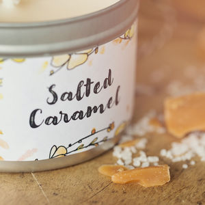 Daisy And Dot Salted Caramel Tin Candle