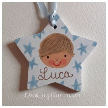 Personalised Boys Gift Tag Decoration