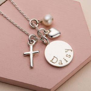 Silver Christening Necklace