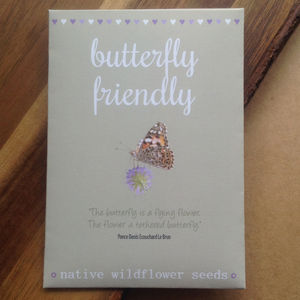 Watercolour Butterfly Friendly Wildflower Seeds W/Quote - wedding favours
