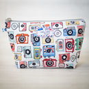 Retro Camera Photography Ticket Stub Makeup Wash Bag