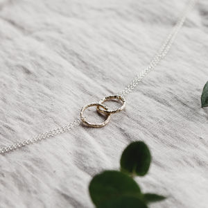 Double Meteorite Ring Pendant