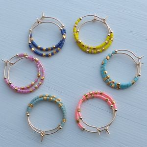 20mm Fair Trade Hoops In Neon Colours