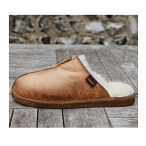 Aspiga Hugo Men's Chestnut Sheepskin Slippers