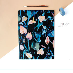 A4 Night Lilies Notebook