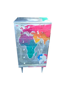 Tall Map Chest Of Drawers - baby's room