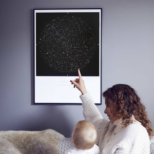 Personalised Map Of The Stars, Medium Size Print - gifts for husband or boyfriend