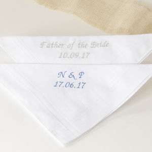 Personalised Embroidered Handkerchief - handkerchiefs