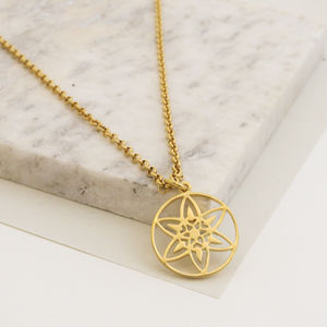 18ct Gold Plated Daffodil Necklace - necklaces & pendants