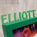 Child's Name Mini Photo Frame in Green