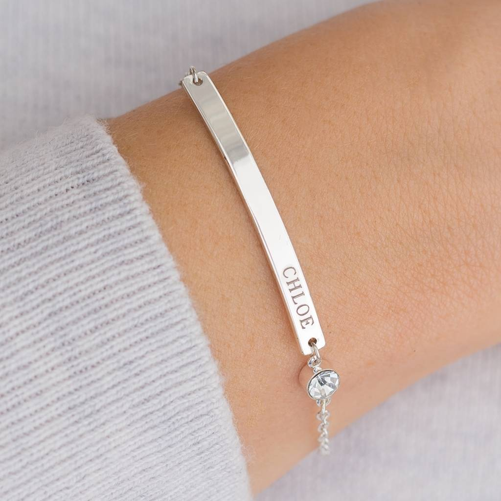 gold hugerect bangle nameplate pearl product bar personalized bangles bracelet bracelets and custom filled