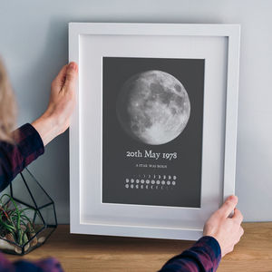 Personalised Phase Of The Moon Print