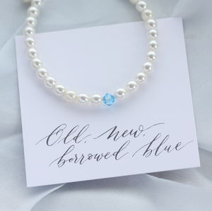 Something Blue Bridal Bracelet - bridal edit