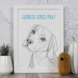 Beagle Dog Personalised Print