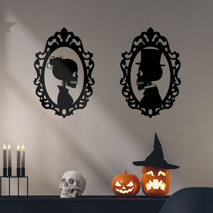 Framed Skeletons Halloween Wall Stickers - party decorations