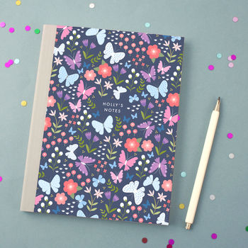 Personalised Butterfly Pattern Notebook