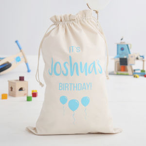 Personalised Birthday Sack Boys