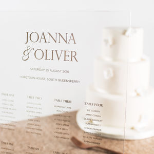 Personalised Acrylic Wedding Seating Plan - table plans