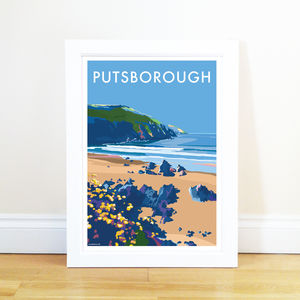 Putsborough Vintage Style Seaside Poster