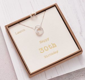 Sterling Silver Happy 30th Birthday Necklace - necklaces & pendants