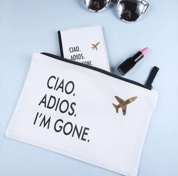 'Ciao, Adios, I'm Gone' Travel Set