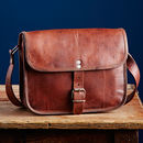 Personalised Handmade Leather Shoulder Bag