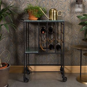 Green Marble Bar Cart - cabinets