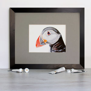 A Puffin Signed Mounted Giclée Print