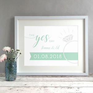 The Yes Day Personalised Engagement Gift Print