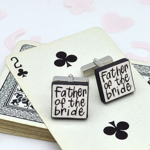 Father Of The Bride Wedding Cufflinks - winter sale