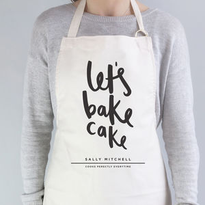 Let's Bake Cake Personalised Apron
