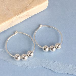 30th Birthday Silver Beads Earrings - earrings