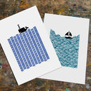 Two X A3 Size Unframed Print Bundle Save 20%