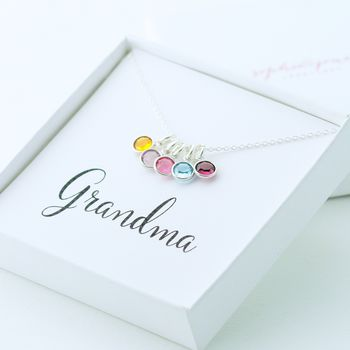 Grandma Birthstone Necklace