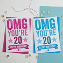 Omg You're 20 Birthday Card