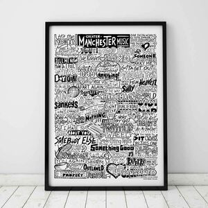 Manchester Music Scene Typography Print