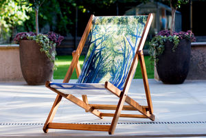 Art Print Deckchair Country Lane