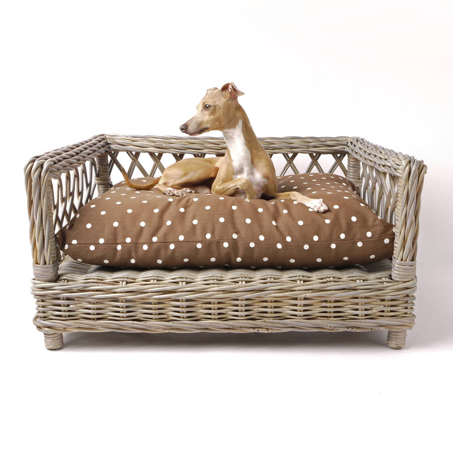 Raised Rattan Dog Bed By Charley Chau Notonthehighstreet Com