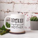 Personalised Beware Sleep Deprived Mother Mug