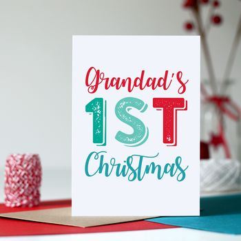 Grandad First Christmas Greeting Card